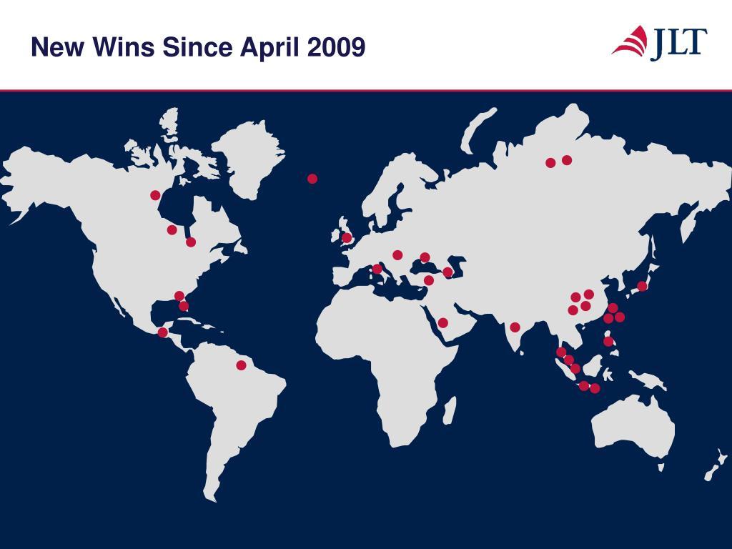 New Wins Since April 2009