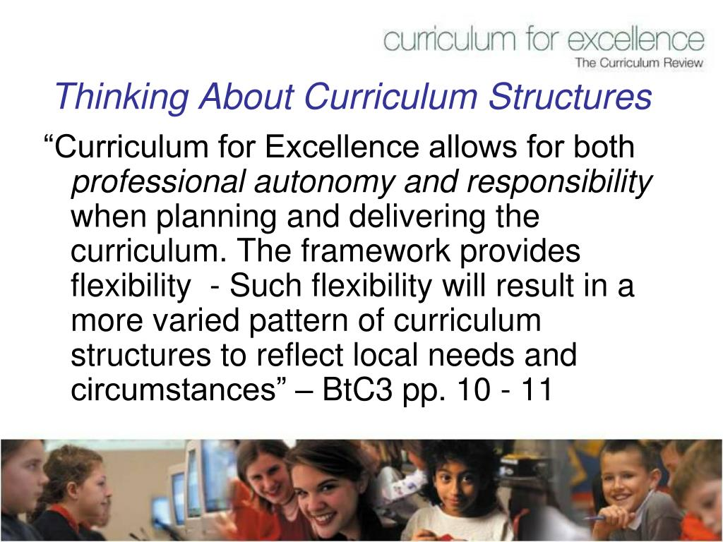 Thinking About Curriculum Structures