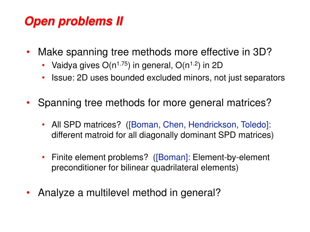 Open problems II