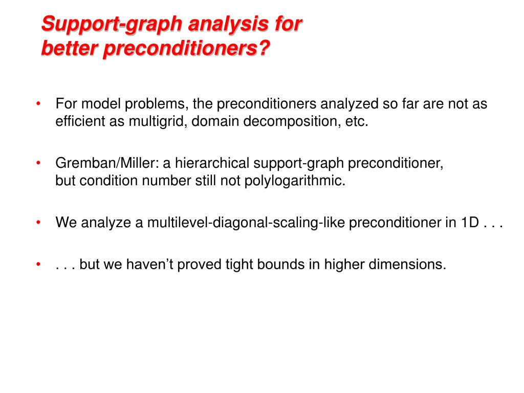Support-graph analysis for