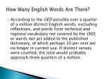 how many english words are there