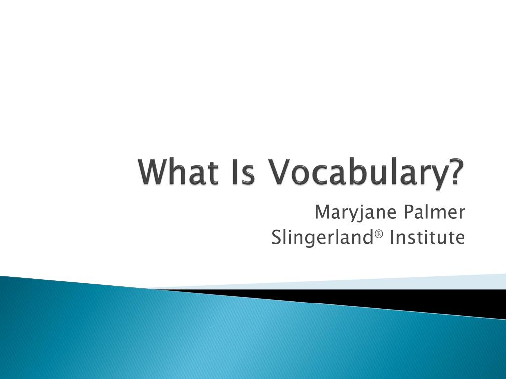 what is vocabulary