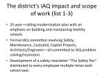 the district s iaq impact and scope of work list 1 332