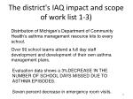 the district s iaq impact and scope of work list 1 345