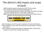 the district s iaq impact and scope of work