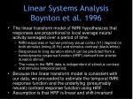 linear systems analysis boynton et al 1996