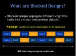 what are blocked designs