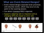 what are event related designs
