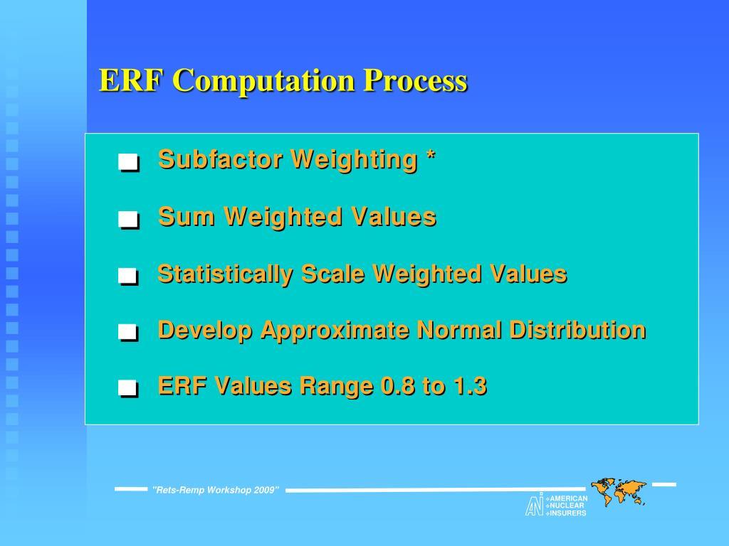 ERF Computation Process