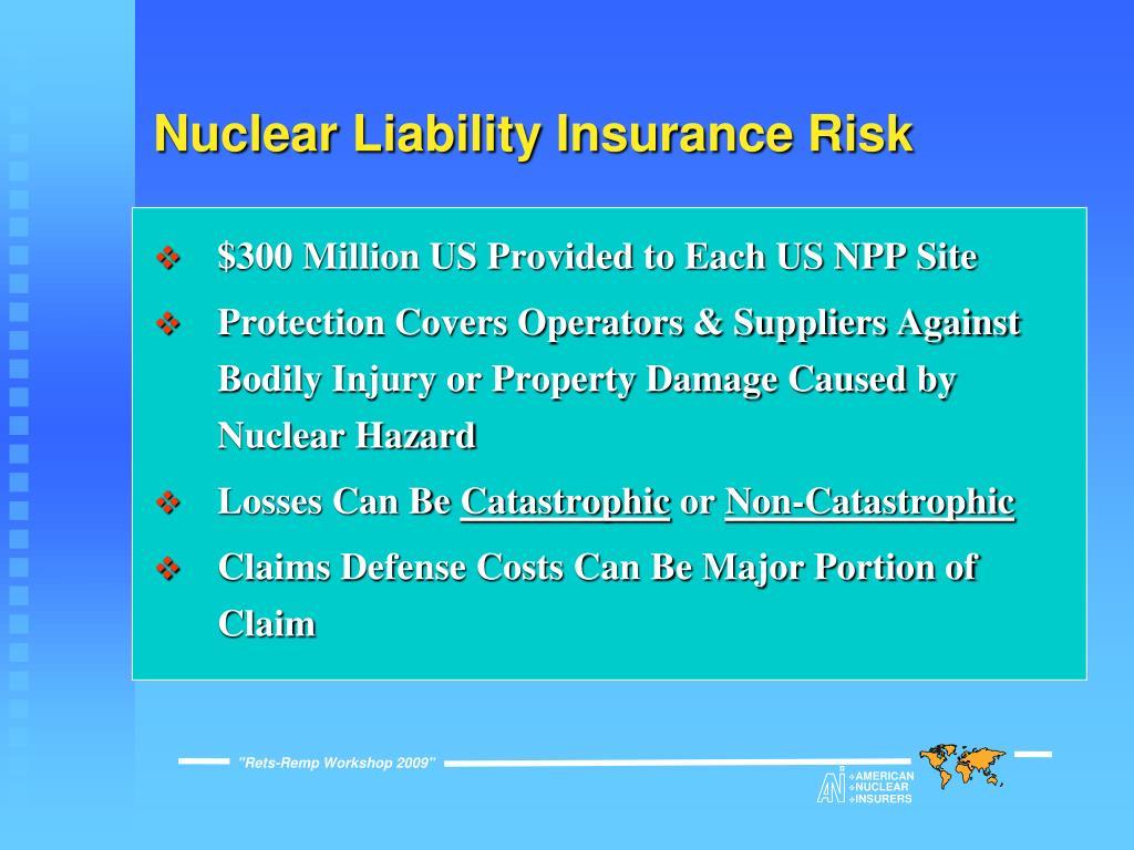 Nuclear Liability Insurance Risk