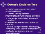owner s decision tree