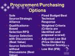 procurement purchasing options