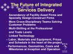the future of integrated services delivery