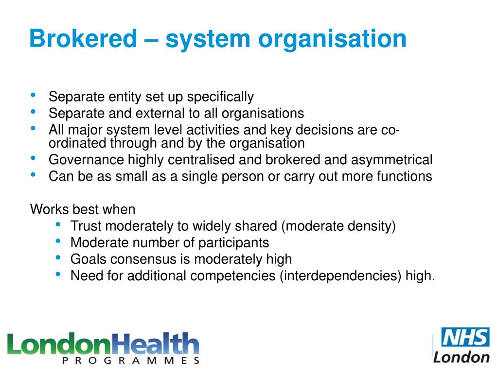 Brokered – system organisation