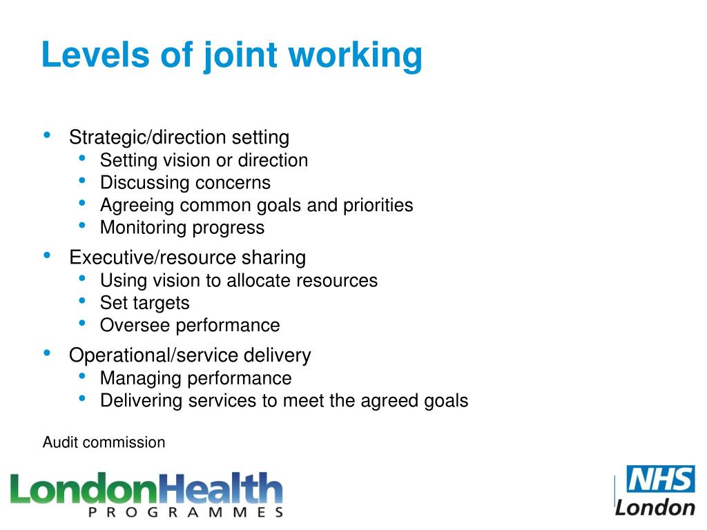 Levels of joint working
