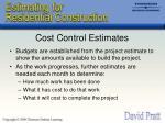 cost control estimates