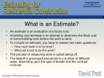 what is an estimate
