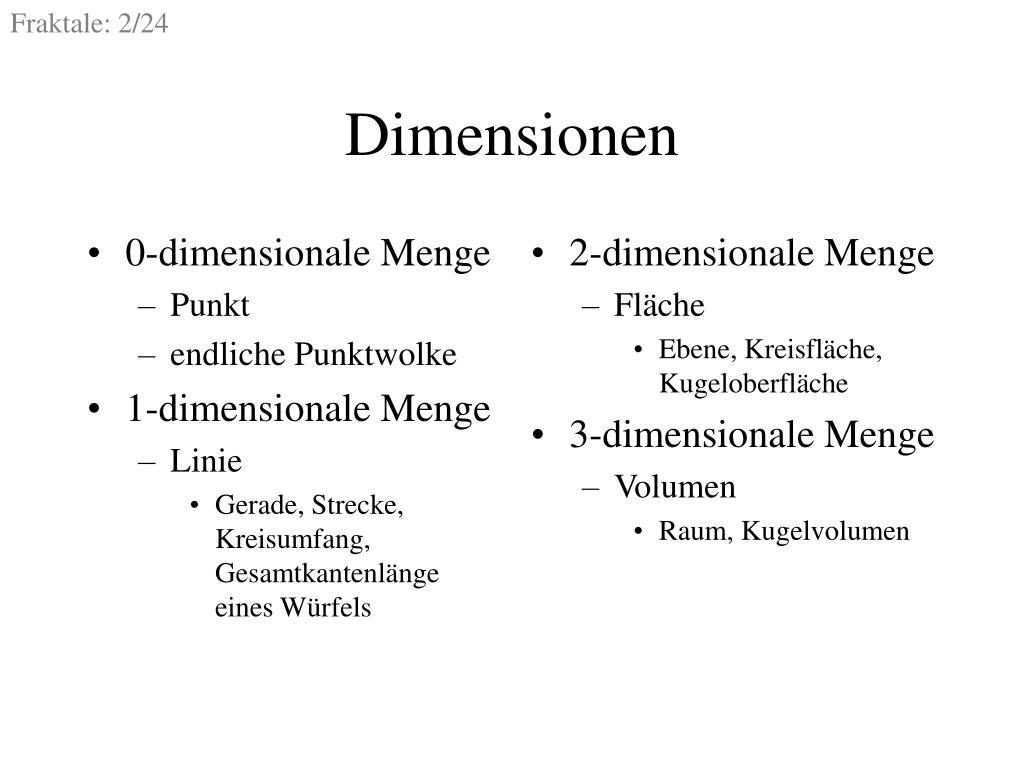 0-dimensionale Menge