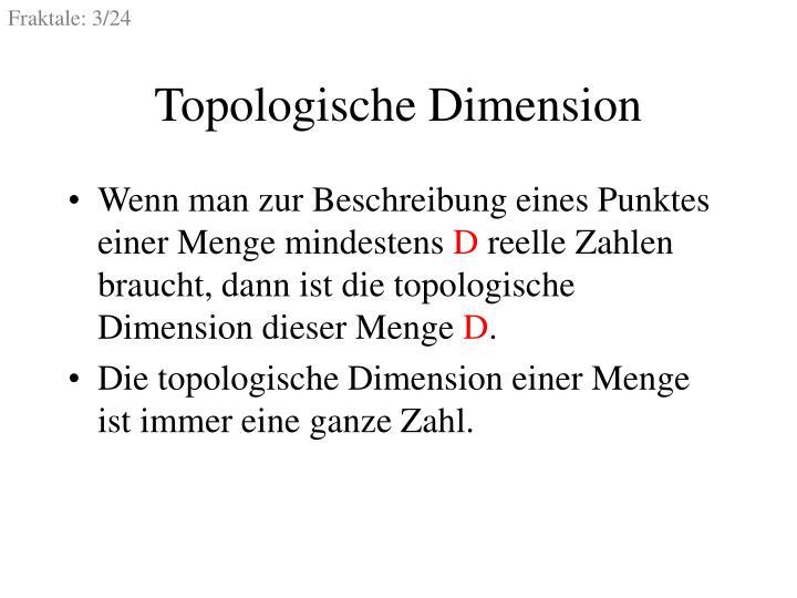 Topologische dimension
