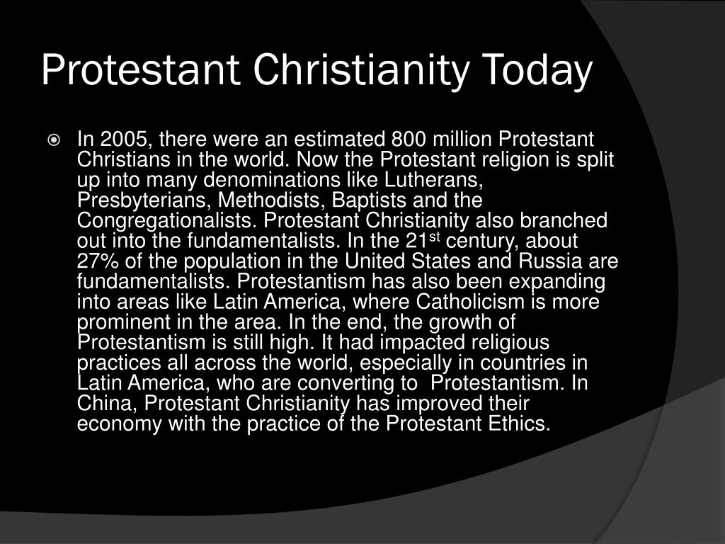 Protestant Christianity Today