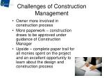 challenges of construction management