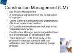 construction management cm