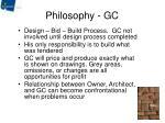 philosophy gc