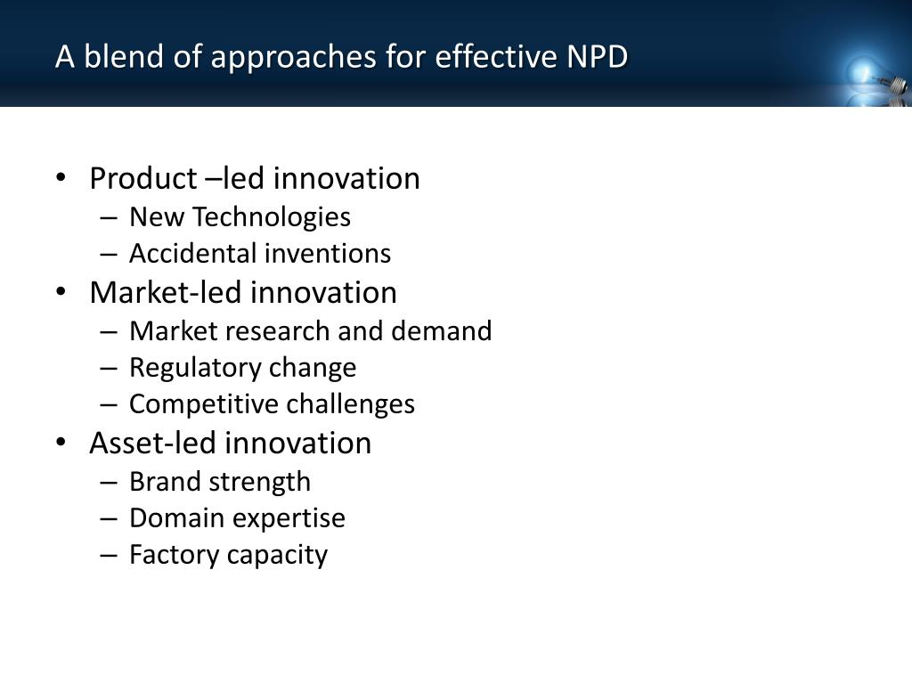 A blend of approaches for effective NPD