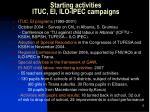 starting activities ituc ei ilo ipec campaigns