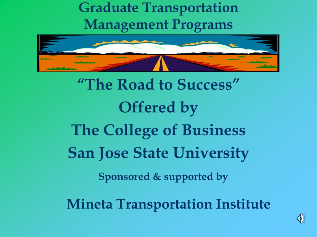 graduate transportation management programs l.