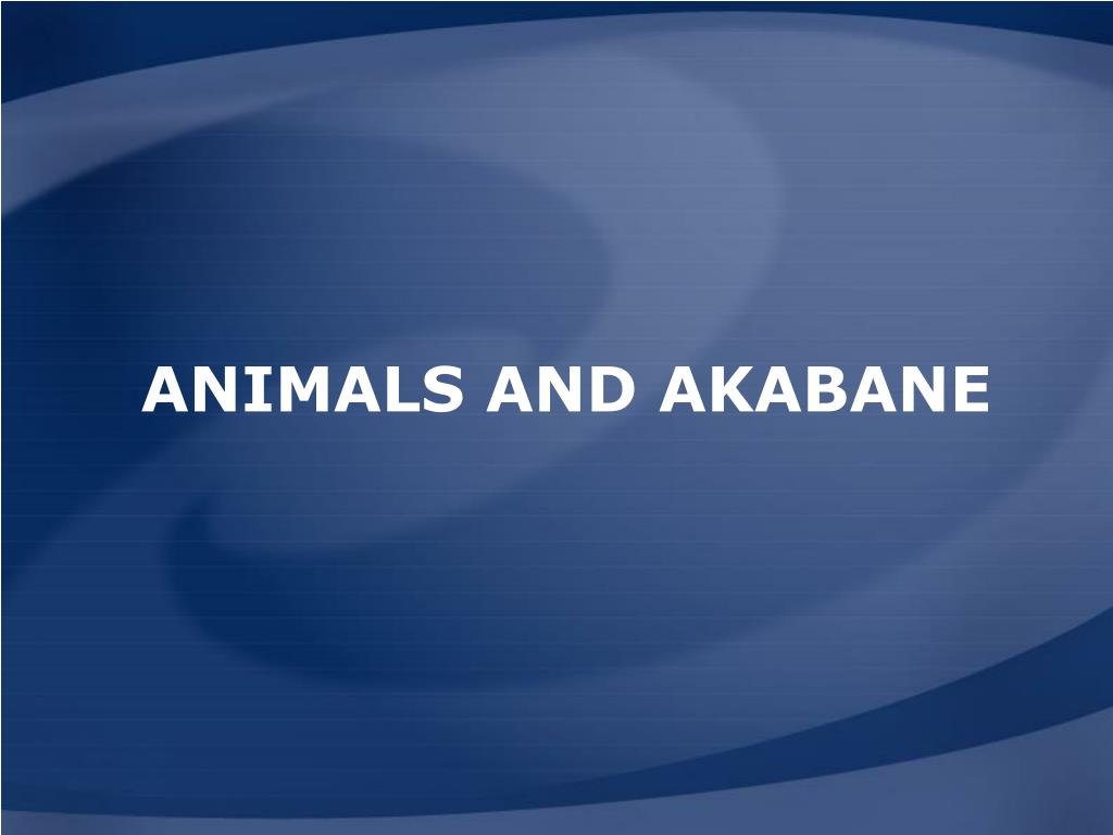 Animals and Akabane