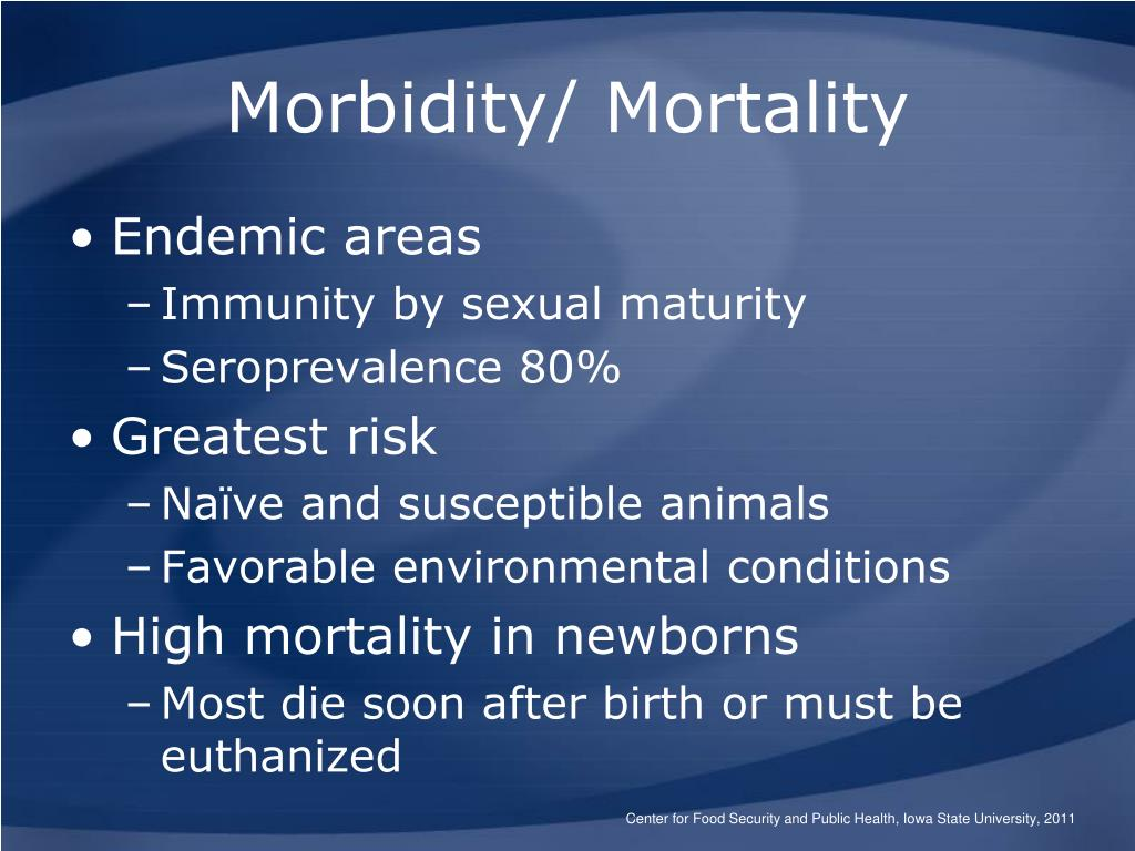Morbidity/ Mortality