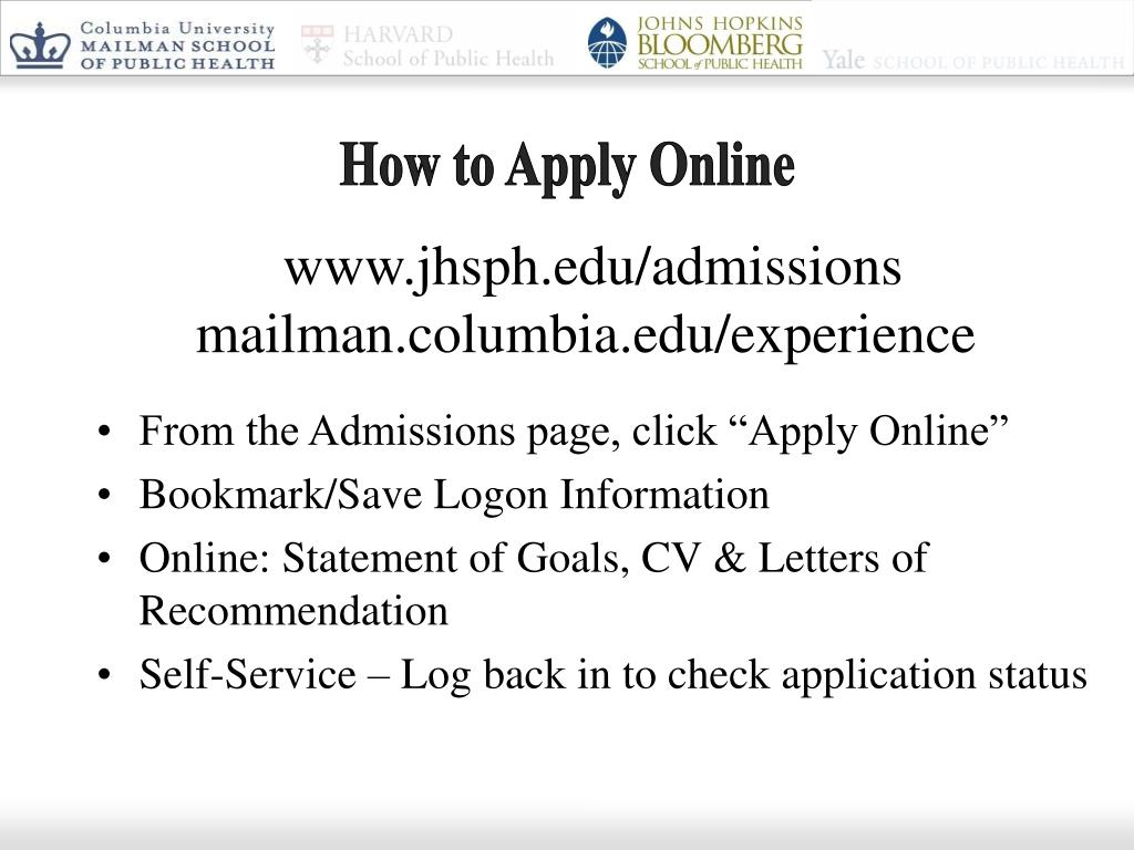 How to Apply Online