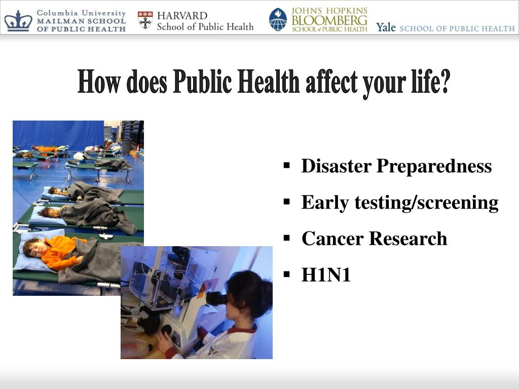 How does Public Health affect your life?