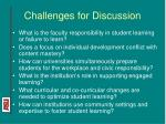challenges for discussion
