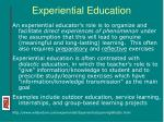 experiential education