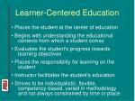 learner centered education