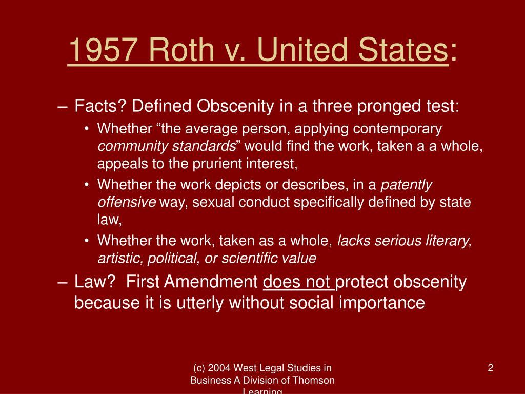 1957 Roth v. United States