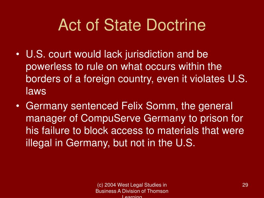 Act of State Doctrine