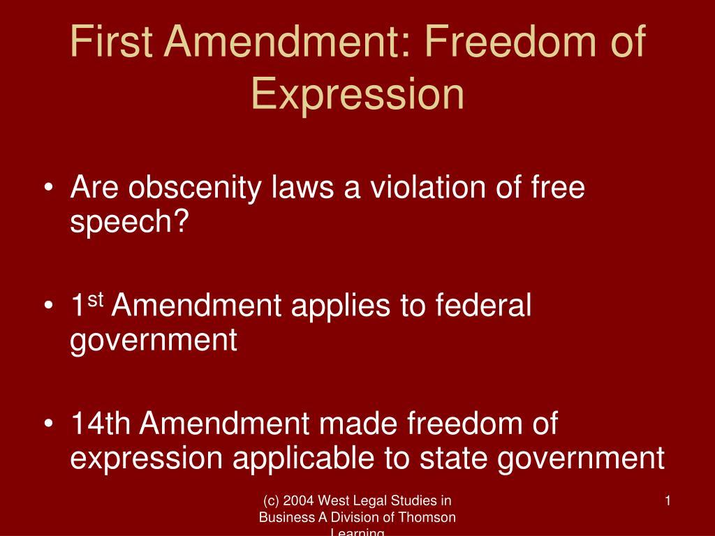 First Amendment: Freedom of Expression