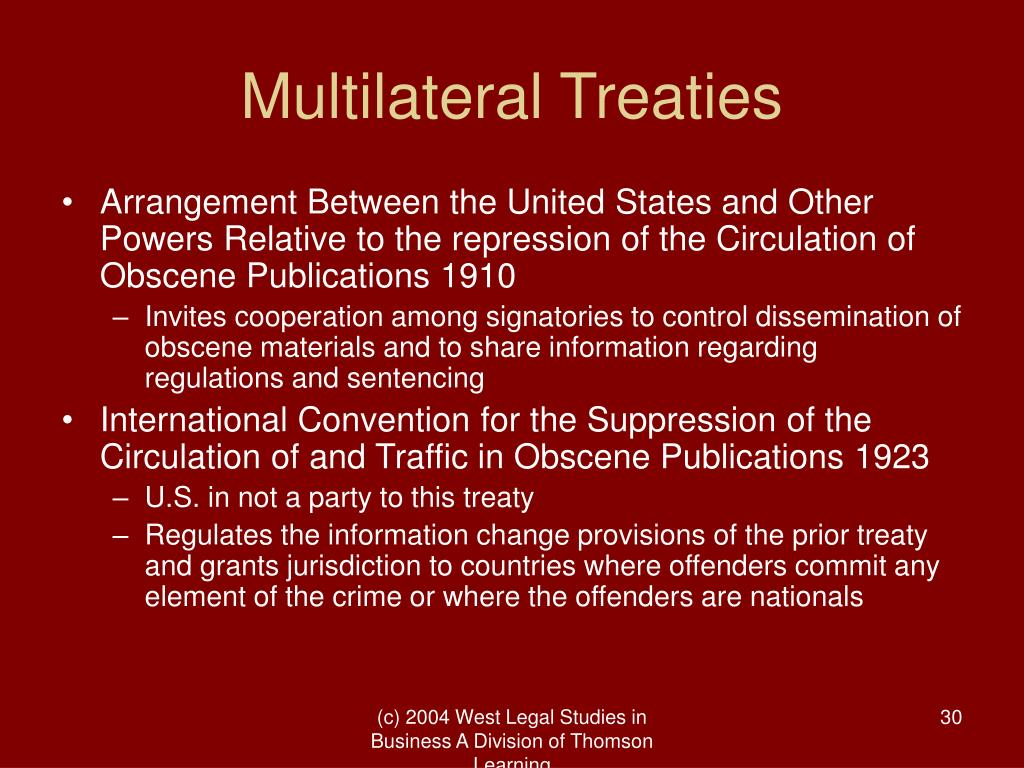 Multilateral Treaties