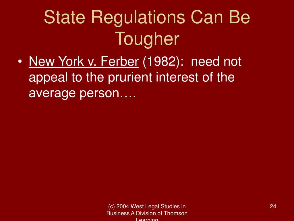 State Regulations Can Be Tougher