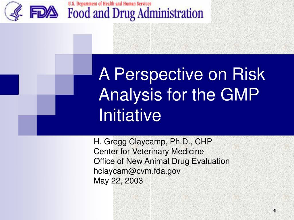 a perspective on risk analysis for the gmp initiative
