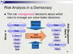 risk analysis in a democracy15