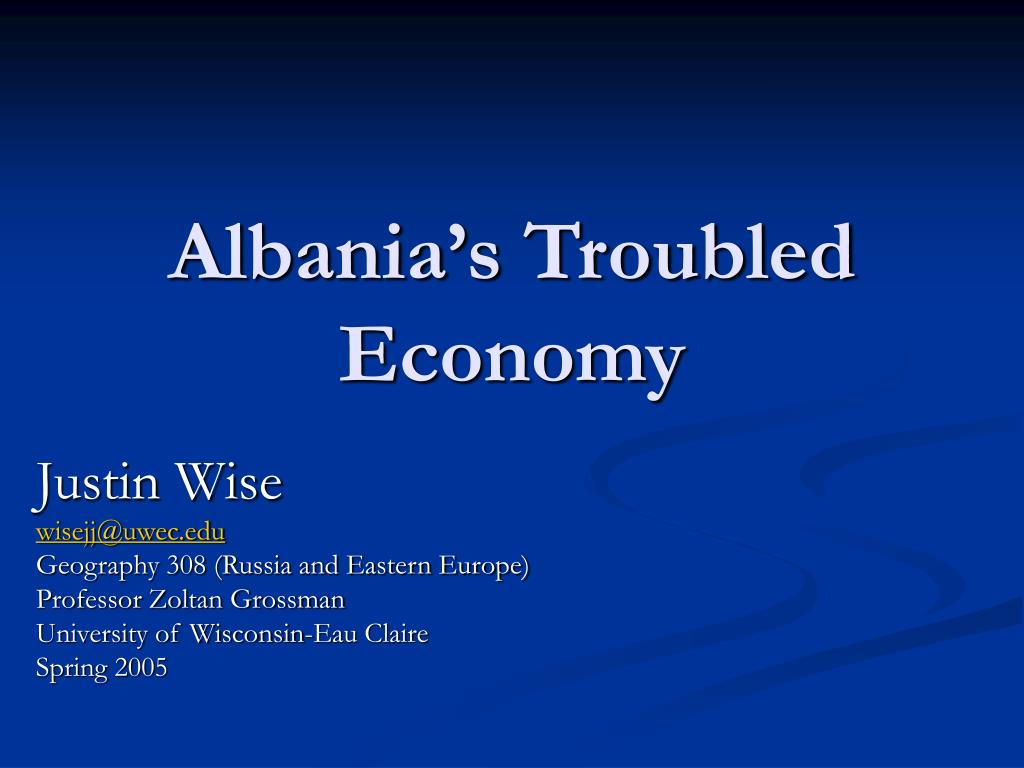 albania s troubled economy l.