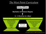the west point curriculum