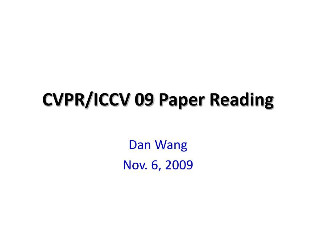 cvpr iccv 09 paper reading
