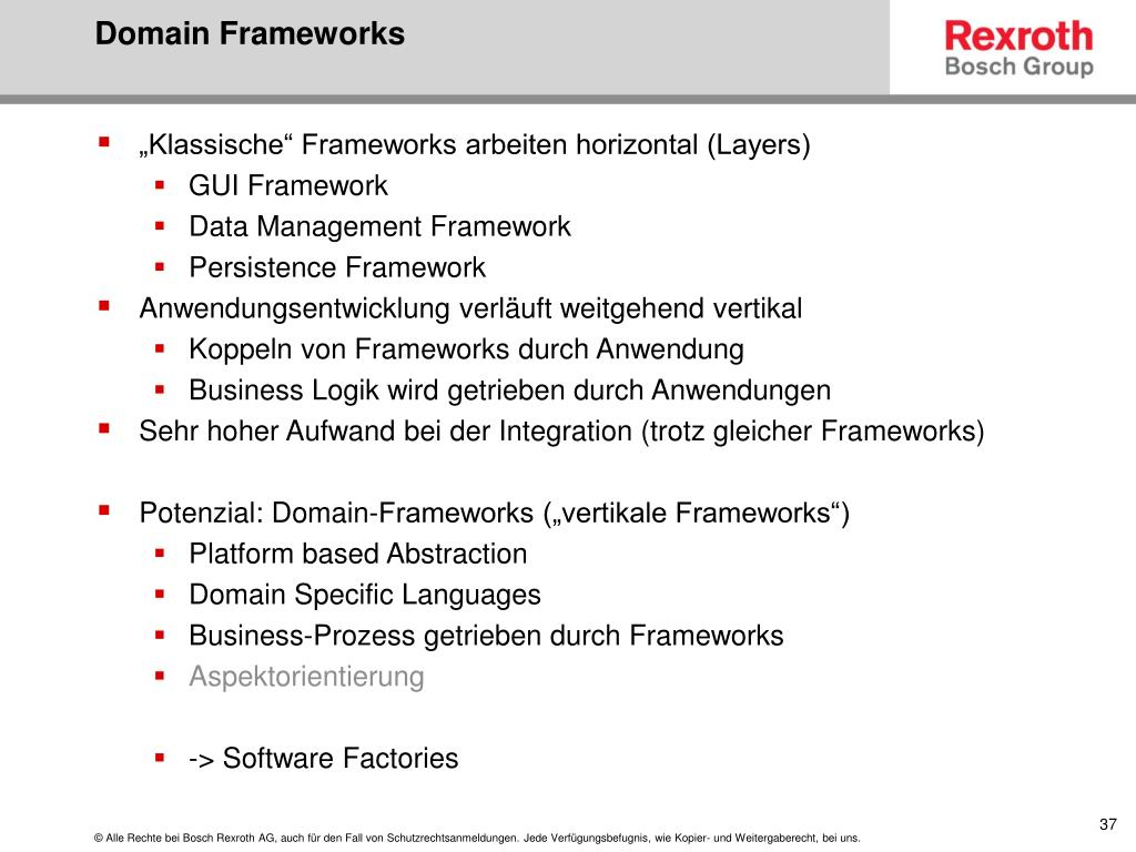 Domain Frameworks