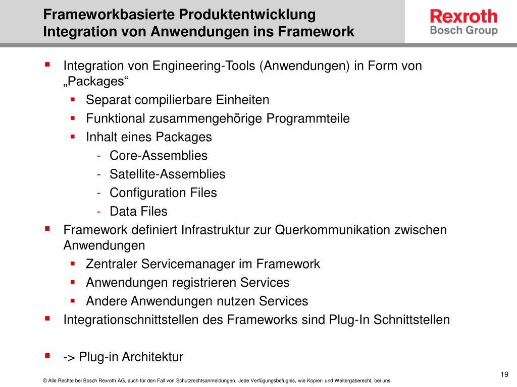 Frameworkbasierte Produktentwicklung
