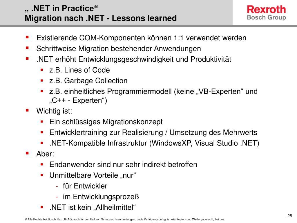 """"""" .NET in Practice"""""""
